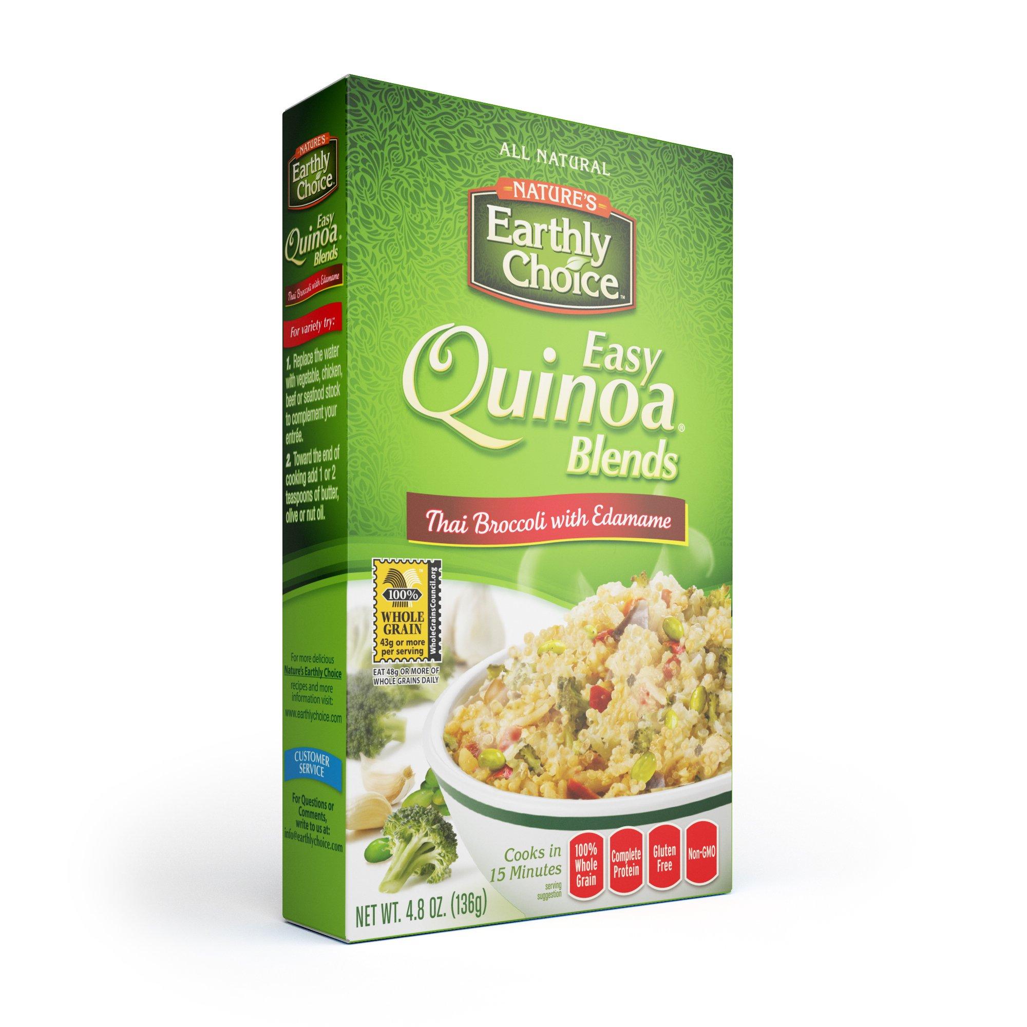 Natures Earthly Choice Quinoa Thai Broccoli with Edamame, 6 x 4.8 ounce