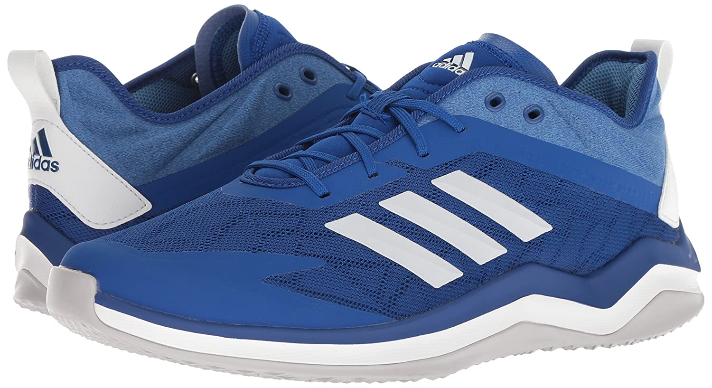 00243ef3e5 adidas Men's Speed Trainer 4 Baseball Shoe, Collegiate Crystal White/Trace  Royal, 13.5 M US