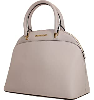 47dc78e1d702 Michael Kors Emmy Large Dome Saffiano Leather Satchel Shoulder Bag Purse  Handbag