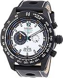 Nautec No Limit Herren-Armbanduhr XL Indianapolis Chronograph Quarz Leder IP QZ/LTIPBKWH