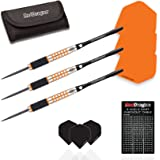 Red Dragon Amberjack 9: 28g - 90% Tungsten Steel Darts with Flights, Shafts, Wallet & Red Dragon Checkout Card