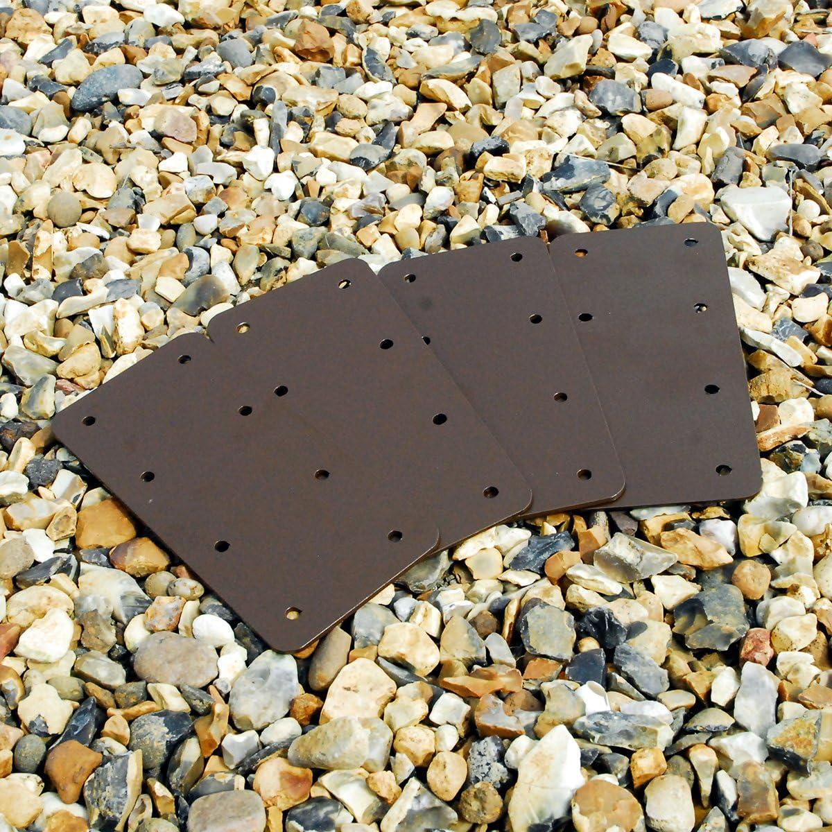 Pack de 10 soportes rectos de madera para macetero de madera con bordes elevados color negro