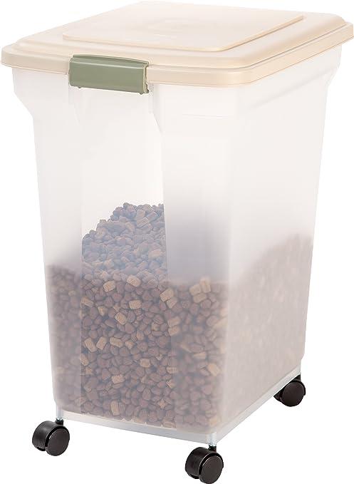 IRIS Premium Airtight Pet Food Storage Container 55-Pounds Almond  sc 1 st  Amazon.com & Pet Supplies : IRIS Premium Airtight Pet Food Storage Container 55 ...