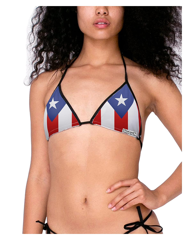 TooLoud Puerto Rico Flag AOP Swimsuit Bikini Top All Over Print