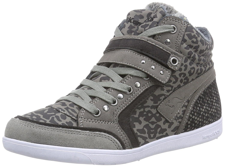 Kangaroos K-Basket 5005C - Zapatillas Deportivas Altas de Material sintético Mujer 39 EU|Gris - Grau (Dk Grey/Black 235)