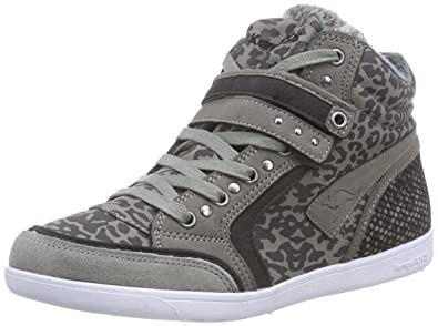 KangaROOS K-Basket 5005C, Womens Hi-Top Sneakers