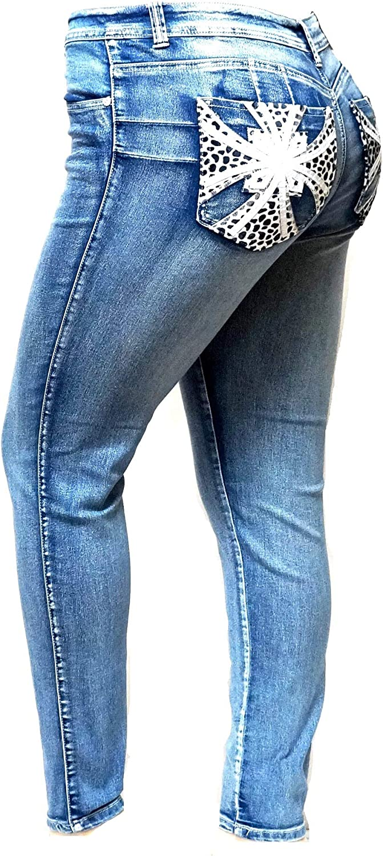 Boutique4Divas Women High Waist Summer Causal Stretchy Denim Look Cotton Shorts