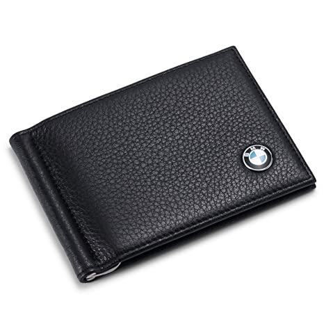d6d011757520 Amazon.com  Tuoco BMW Bifold Money Clip Wallet with 6 Credit Card ...