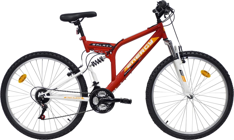 VTT - Bicicleta de montaña, 66,04 cm, cuadro con suspensión ...