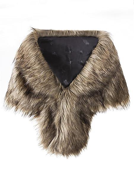 Amazon.com: Vijiv - Collarín de pelo sintético para mujer ...
