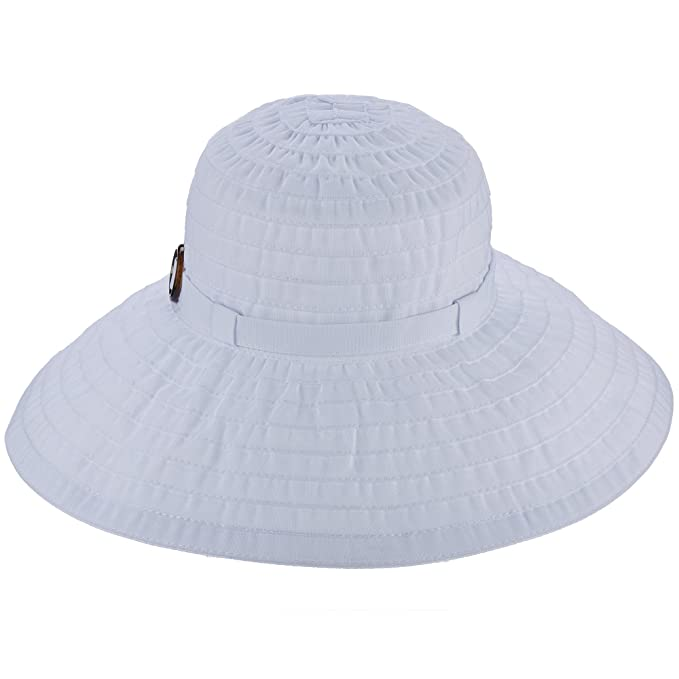 Tommy Bahama Women s Ribbon Big Brim Hat (White)  Amazon.ca ... 8bc247027297