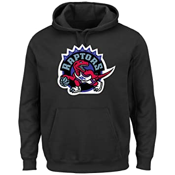 Majestic Toronto Raptors NBA Felt Tek Patch Hooded Sweatshirt camisa, large