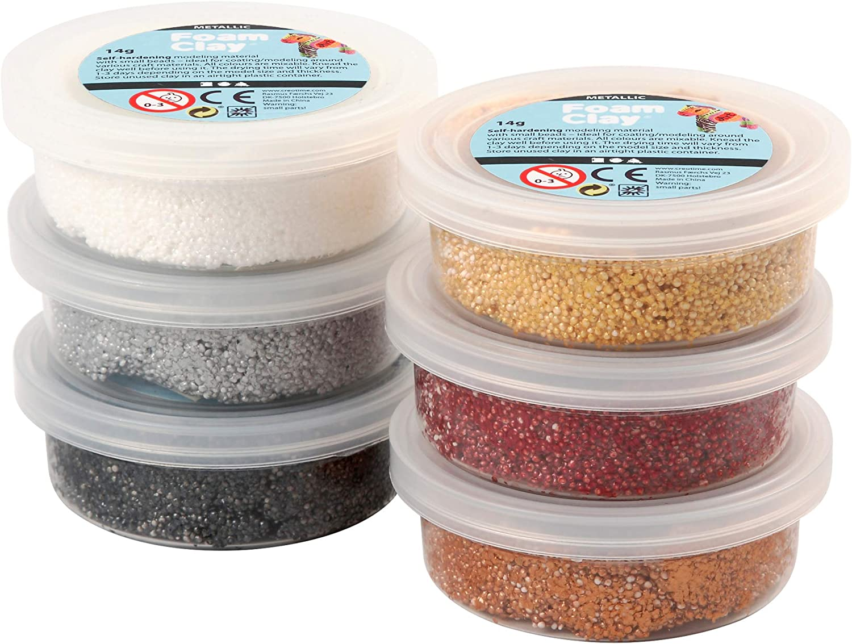 asstd Foam Clay/® Couleurs : P/âques 6 x 14 g.