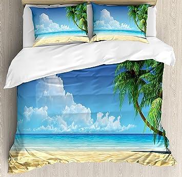 Cloud Dream Luxe 4 Pieces Parure De Lit Palmier Tropical Sable