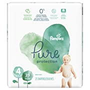Pampers Pure Disposable Baby Diapers, Hypoallergenic and Fragrance Free Protection, Size 4, 23 Count