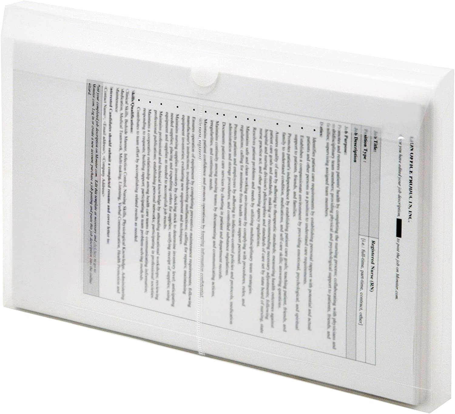 Lion Vel-Close-R Clear Poly Envelopes with Gusset, Legal, Side Load, 6 EA/Pack, 1 Pack (22050-CR)