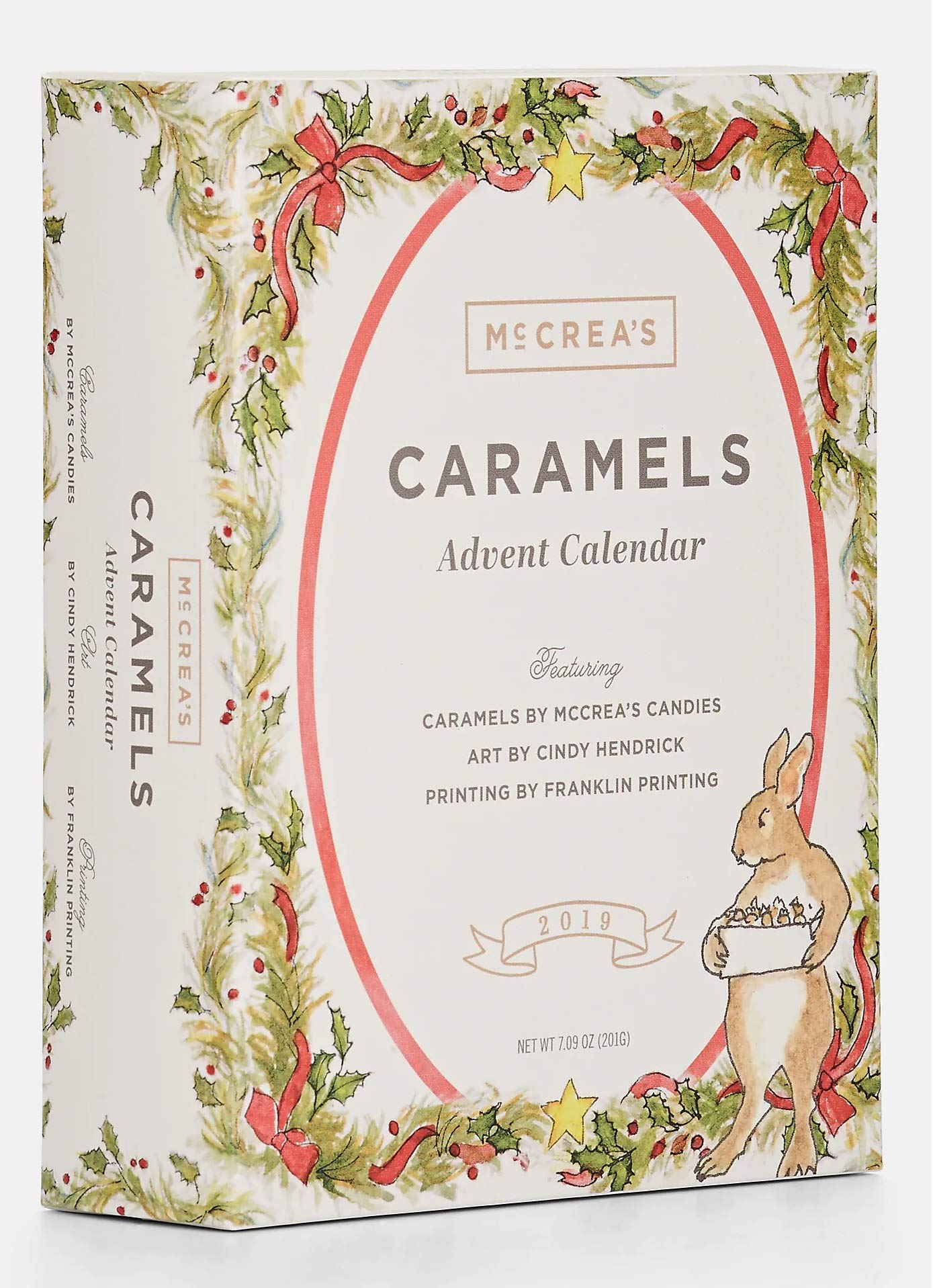 McCrea's Candies 2019 Caramel Advent Calendar featuring Art by Cindy Hendrick by McCrea's Candies