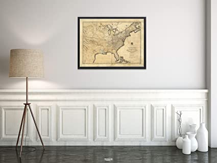 Amazoncom Mapa New And Correct Of The United States Upper Lower - Us-map-1819