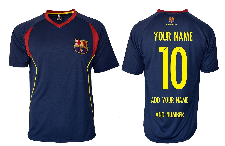 FCバルセロナサッカートレーニングメンズ大人用ジャージパフォーマンスカスタマイズされた任意の名前 B071L4YYCNNavy T1e27 L