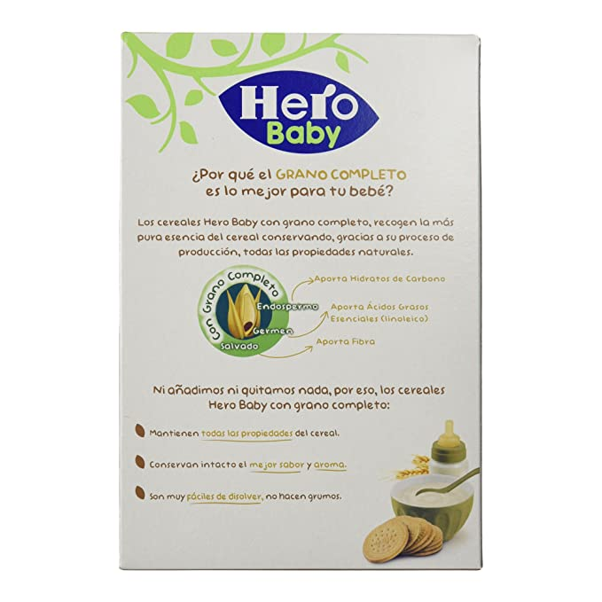 Hero Babynatur - Cereales Con Galleta Maria - 500 g - [pack de 3]: Amazon.es: Alimentación y bebidas