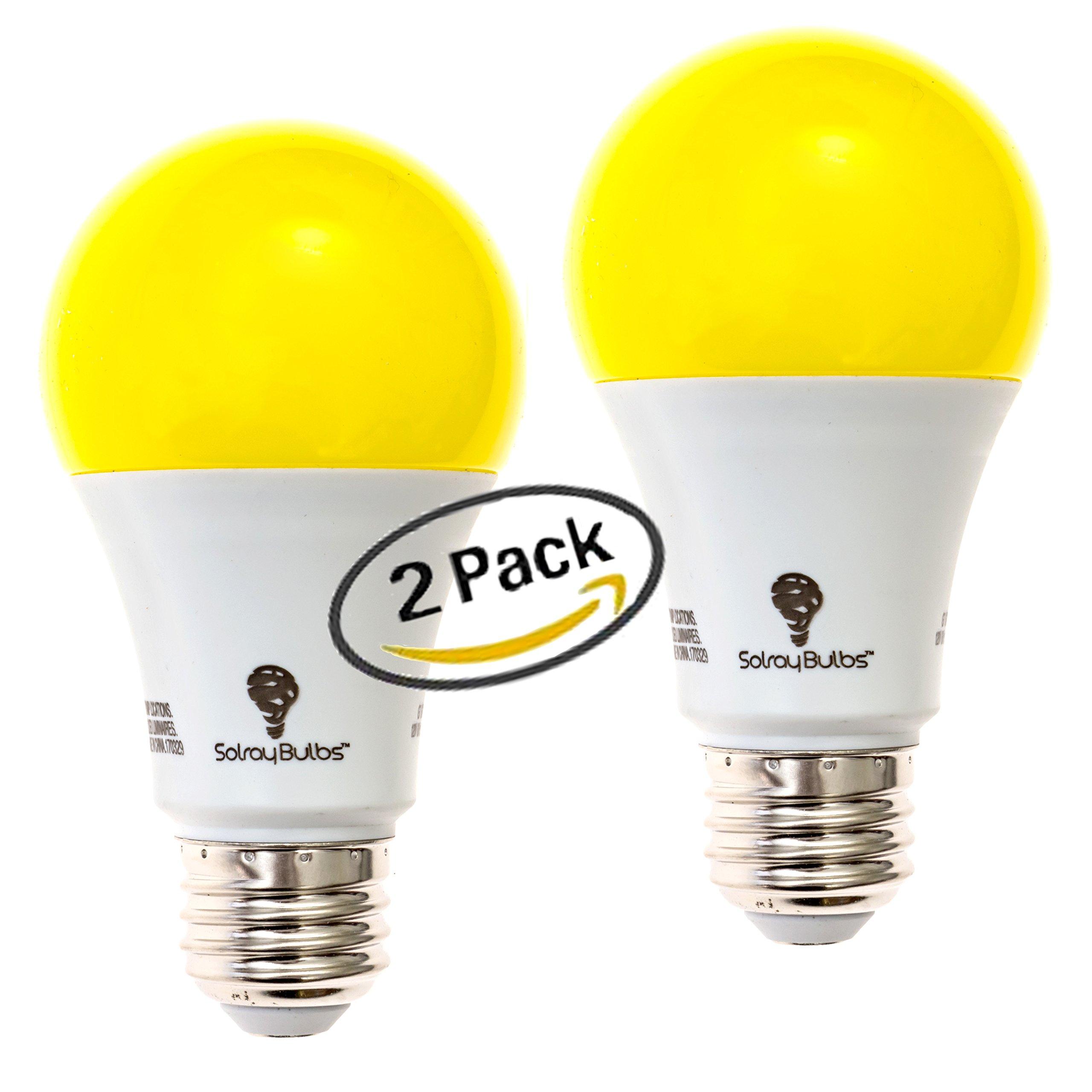 solray amber yellow led bug light bulb 2 pack no blue light outdoor 650 lumens 617395107445 ebay. Black Bedroom Furniture Sets. Home Design Ideas