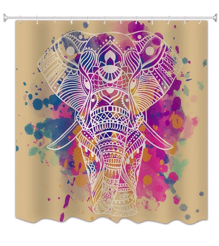 A.Monamour Mandala India Tatuaje Tribal Cabeza Colorida del ...