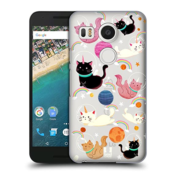 save off 3015e ee60e Amazon.com: Head Case Designs Cat Space Unicorns Hard Back Case for ...