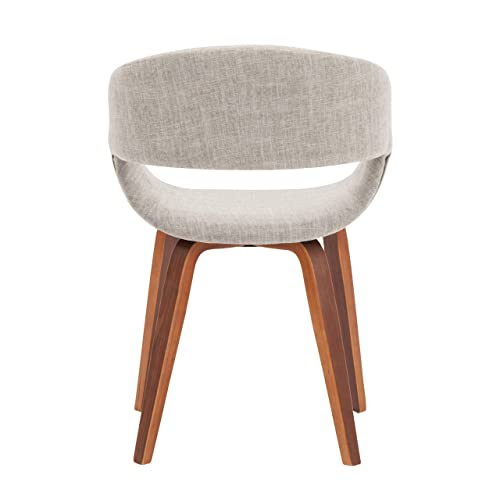 Porthos Home s Mid-Century Style Dining Chair with Fabric Upholstery Ivory