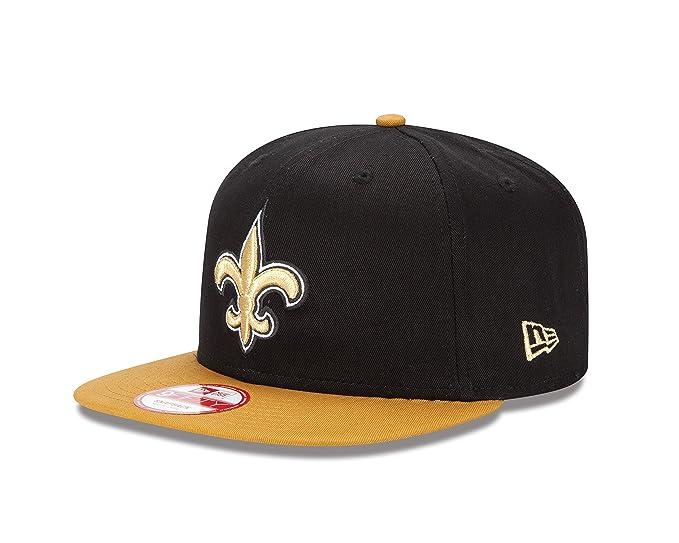 new style 22b50 a9bb3 Amazon.com   New Era New Orleans Saints 9FIFTY Baycik Snapback Cap   Sports  Fan Baseball Caps   Clothing