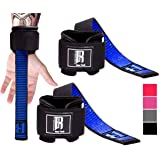 RIMSports Weight Lifting Straps with Wrist Support - Best Wrist Straps for Weightlifting - Superior Deadlift Straps and Workout Wrist Wraps for Deadlifting in Gym - Ideal Lift Straps for Powerlifting