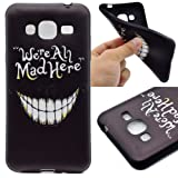 For Samsung Galaxy J3 (2016) J310 Case Cover, Ecoway TPU Soft Silicone Back Colorful Printed Pattern Silicone Case Protective Cover Cell Phone Case for Samsung Galaxy J3 (2016) J310 - Laughing teeth