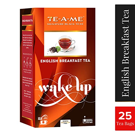 TE-A-ME Standard English Breakfast Tea Pack of 25 Tea Bags Green Tea at amazon
