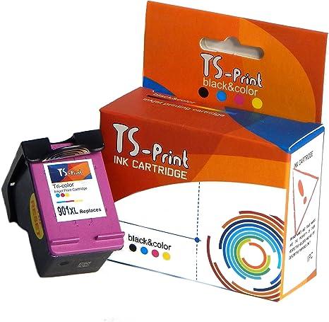 2x XXL inchiostro CARTUCCE PER HP 901xl Officejet 4500 WIRELESS NERO Set COLOR