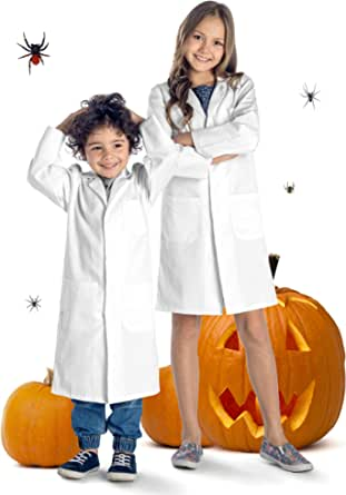 Dr. James Kids Lab Coat, Safety Snaps, Durable, Full Length, 2-16 Years
