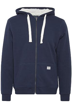 BLEND Herren Sweatshirt Pullover Zip Hoodie mit Kapuze blau  Amazon ... 68f62b06fe