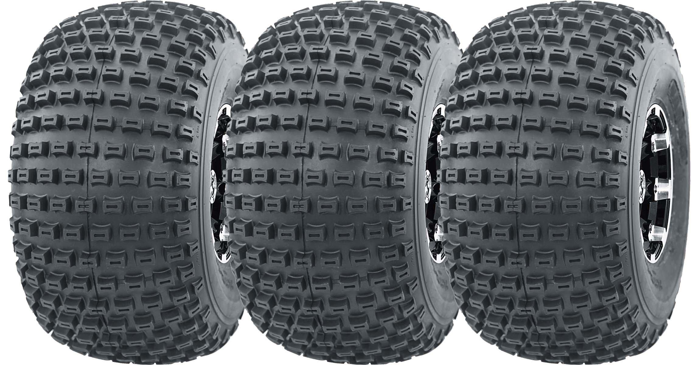 3 New 3 Wheeler WANDA ATV Tires 22X11-8 4PR P322 Dimple Knobby - 10026