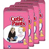 Cuties Toddler Training Pants for Girls, Size 4T-5T, 19-Count, Pack of 4