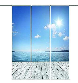 Erstaunlich Amazon.de: Home fashion 88913-106 Schiebevorhang Digitaldruck  FG93