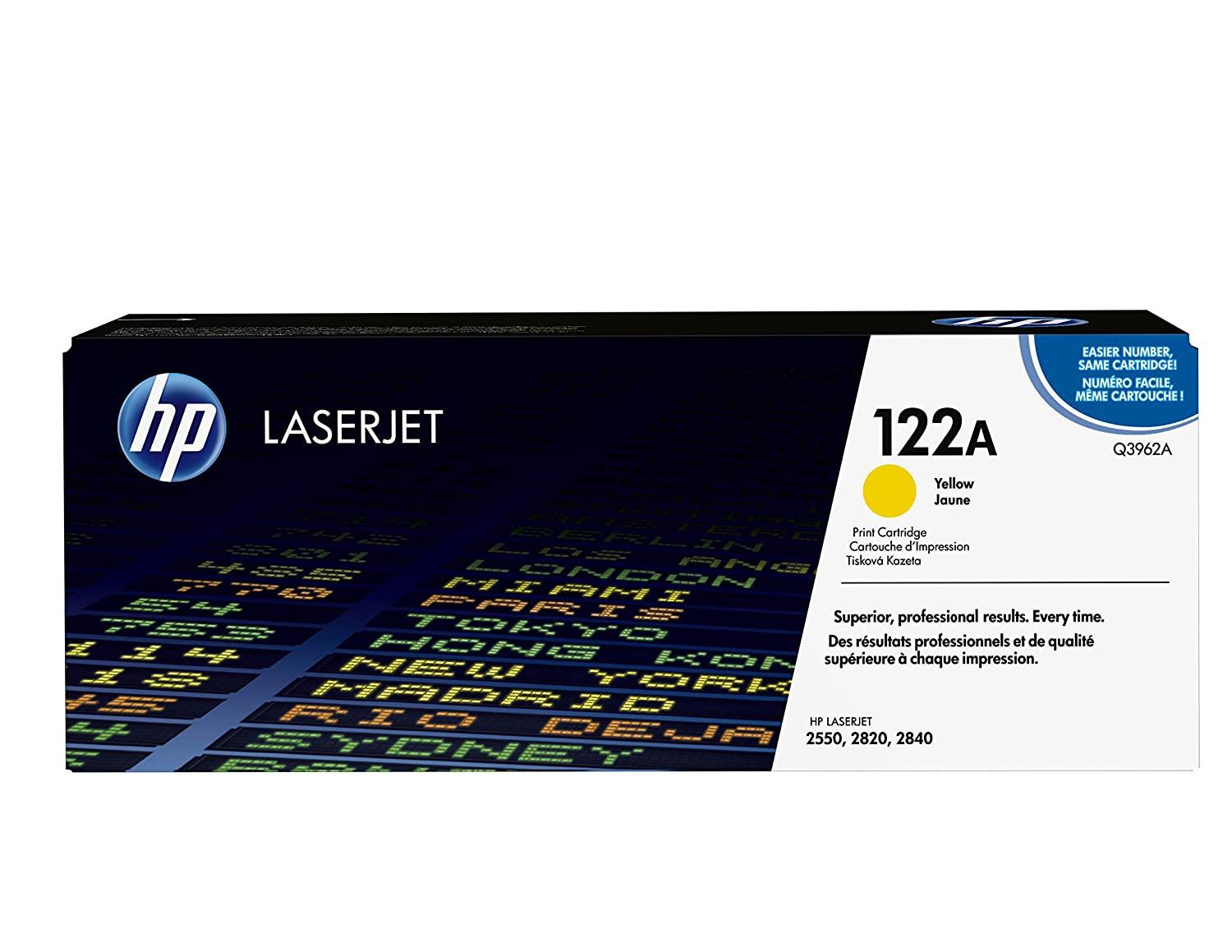 Amazon.com: HP 122A (Q3962A) Yellow Original LaserJet Toner Cartridge  DISCONTINUED BY MANUFACTURER: Terrorvision: Office Products