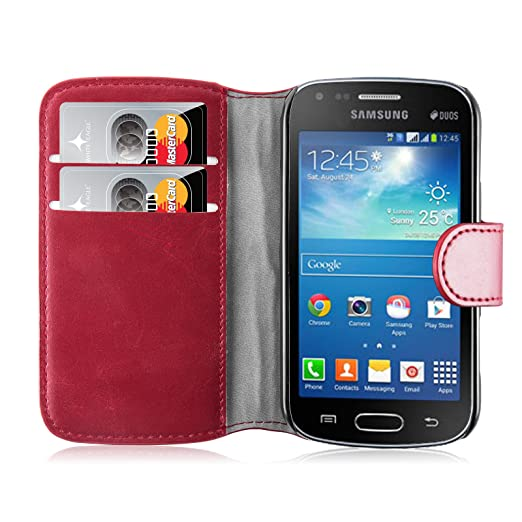 208 opinioni per Cover Galaxy Trend Plus Cover Galaxy S Duos 2, JAMMYLIZARD [Retro Wallet]