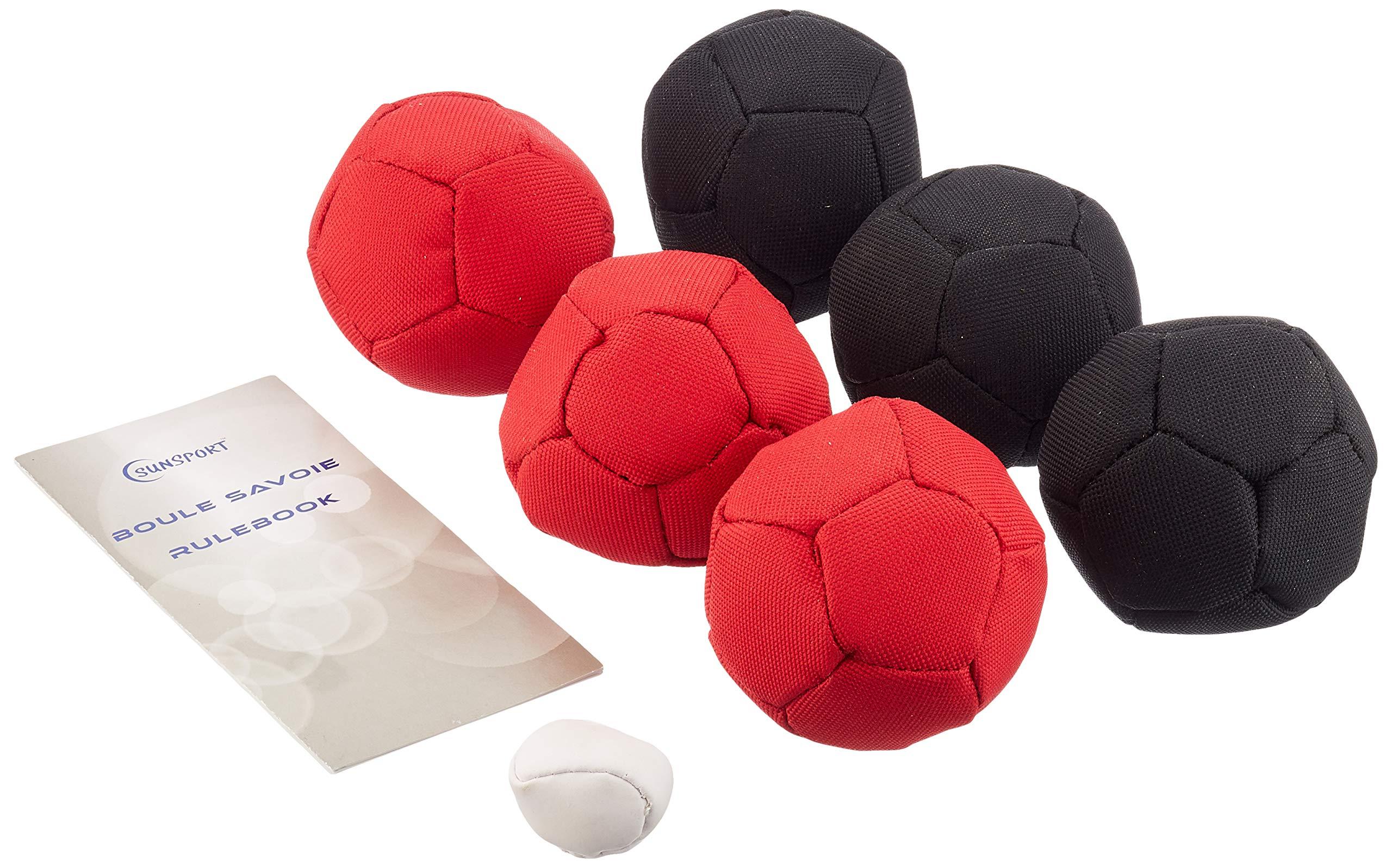 Sunsport Soft Petanque Indoor or Outdoor Game - Black/Red