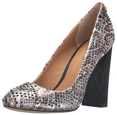 8fbbd3b5e8 Amazon.com | Calvin Klein Women's Junie Foiled Snake Pump | Shoes