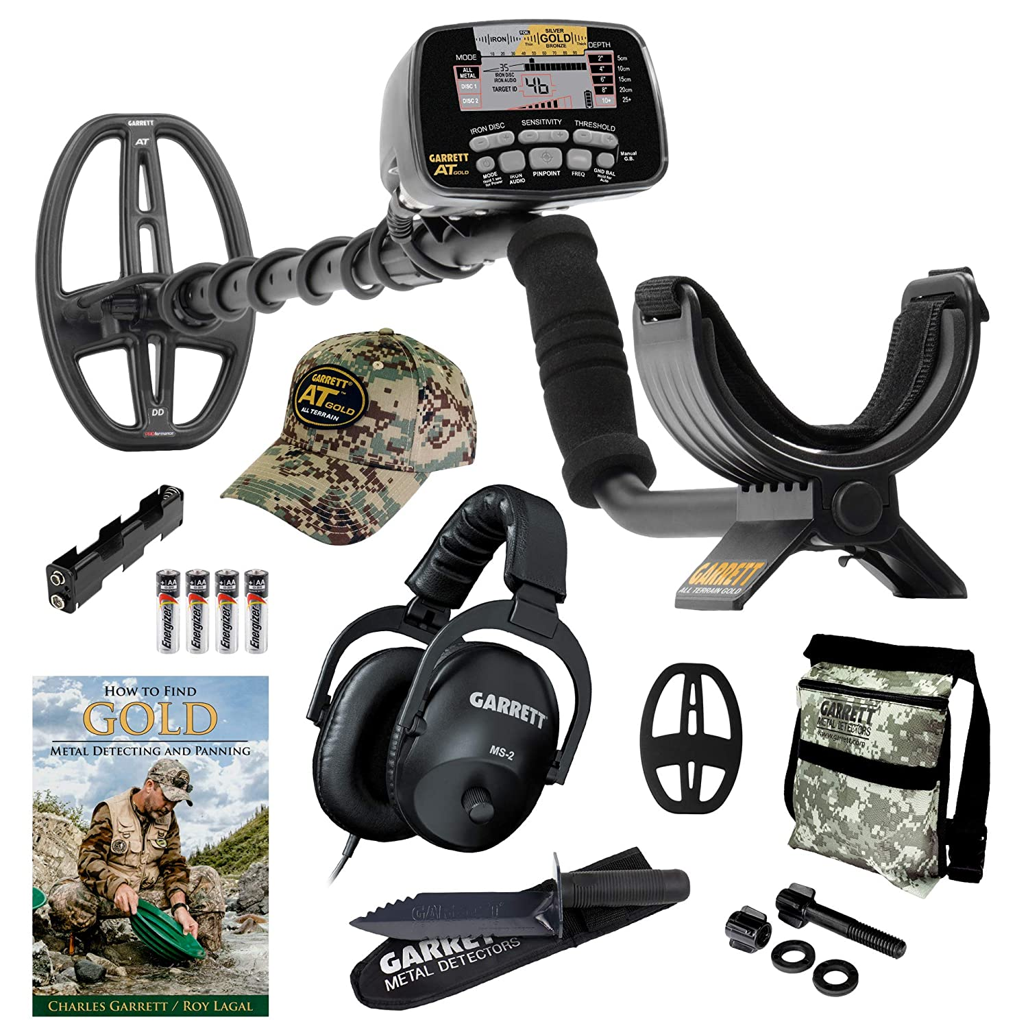 Amazon.com: GARRETT AT GOLD METAL DETECTOR W/EDGE DIGGER CAMO POUCH BOOK &  INSTRUCTION DVD by MDS-ATGOLD-DIGGER-CAMO: Camera & Photo