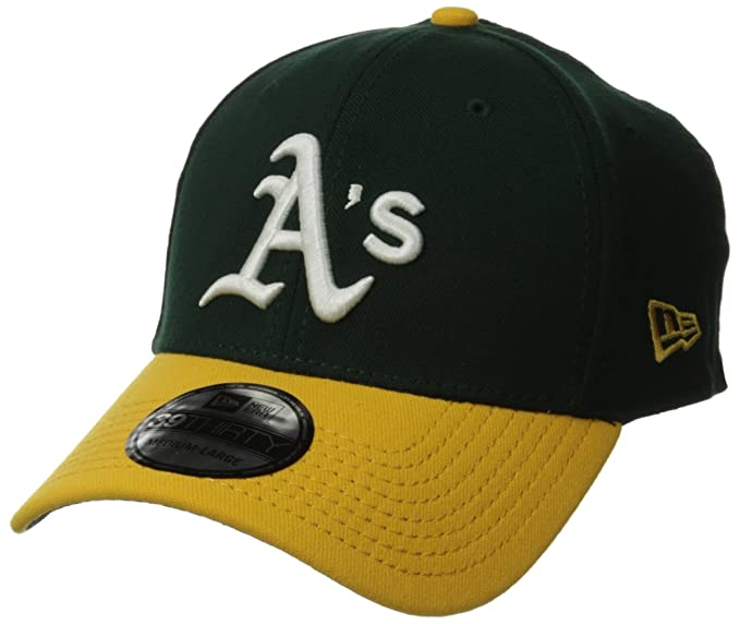buy online dabdf 65ce4 MLB Oakland Athletics Team Classic Home 39Thirty Stretch Fit Cap, Green,  Small Medium
