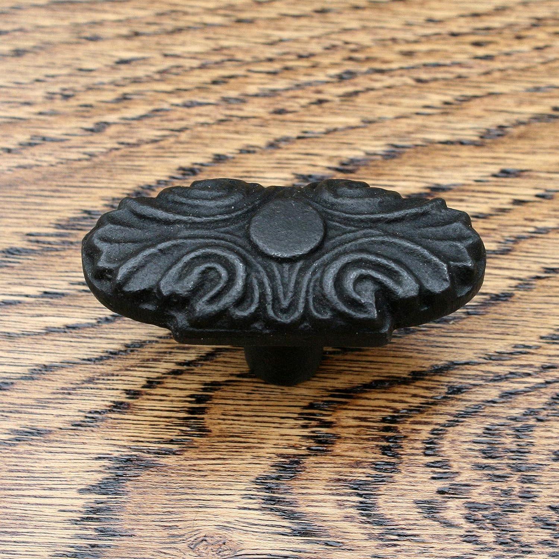 Noir porte tiroir armoire EN FONTE DE CUISINE Boutons Placard