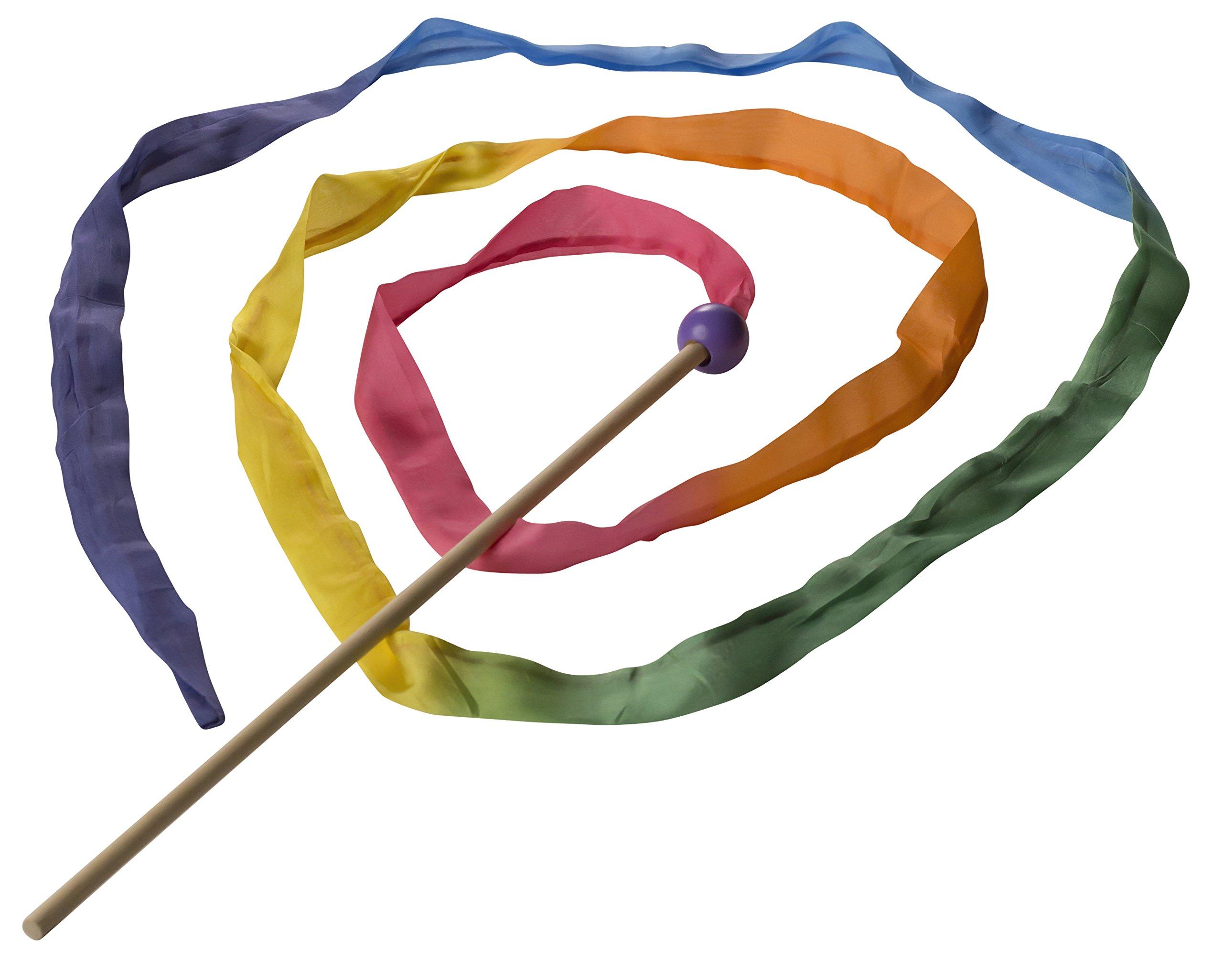 Sarah's Silks 8-Foot Long, Vibrant, Rainbow Silk Streamer