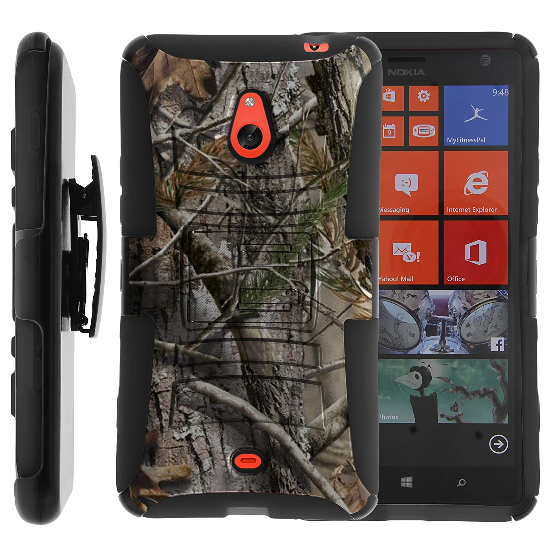 size 40 50758 3e220 Nokia Lumia 1320 Case, Nokia Lumia 1320 Holster, Two Layer Hybrid Armor  Hard Cover with Built in Kickstand for Nokia Lumia 1320 (Cricket, Aio ...