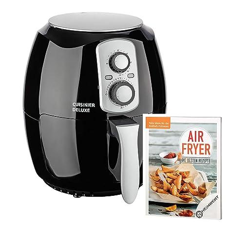 Cuisinier Deluxe – XXL PREMIUM freidora de aire caliente Airfryer, 3,6l Capacidad vermögen