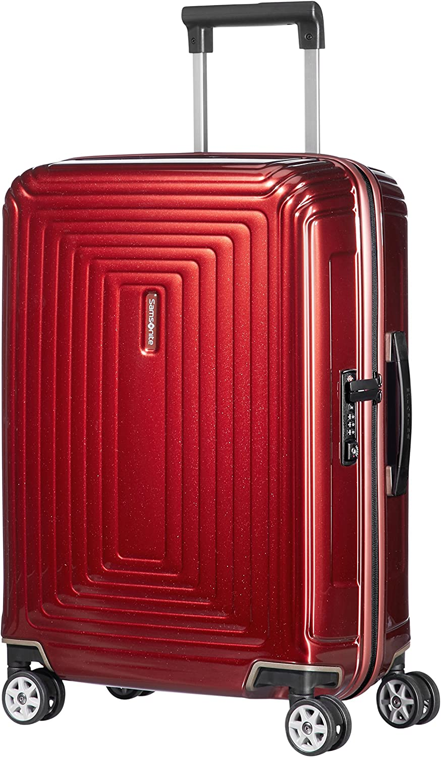 Samsonite Neopulse - Spinner S (Ancho: 23 cm) Equipaje de Mano, 55 cm, 44 L, Rojo (Metallic Red)