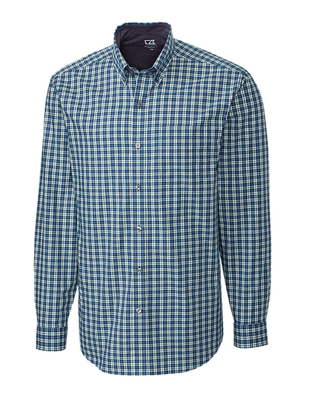 Cutter & Buck Men's Big-Tall Long Sleeve Thompson Plaid Woven Shirt, Multi, 3X/Big by Cutter & Buck (Image #1)